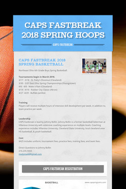 CAPS Fastbreak 2018 Spring Hoops