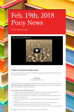 Feb. 19th, 2018 Pony News