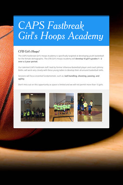 CAPS Fastbreak Girl's Hoops Academy