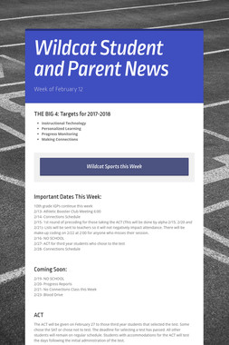 Wildcat Student and Parent News