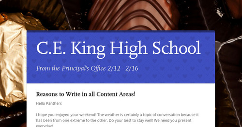 C E  King High School | Smore Newsletters