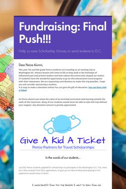 Fundraising: Final Push!!!