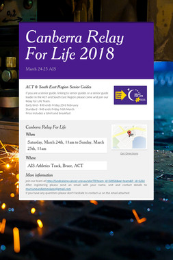 Canberra Relay For Life 2018