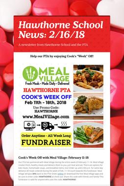 Hawthorne School News: 2/16/18