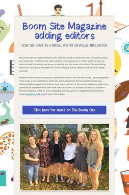 Boom Site Magazine adding editors