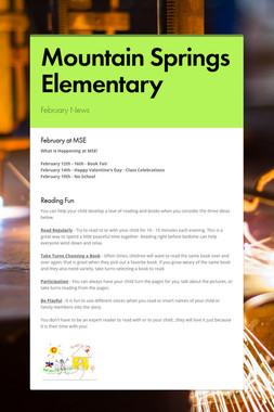 Mountain Springs Elementary