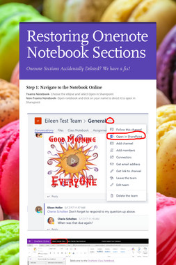 Restoring Onenote Notebook Sections