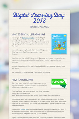 Digital Learning Day: 2018