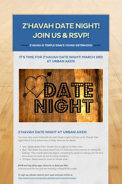 Z'havah Date Night! Join us & RSVP!