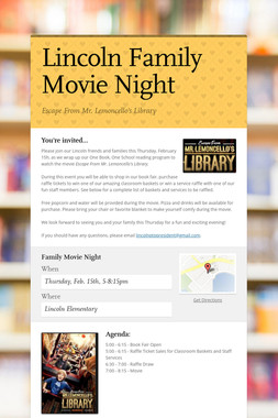Lincoln Family Movie Night