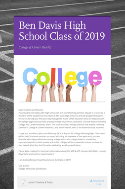 Ben Davis High School Class of 2019