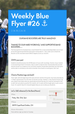 Weekly Blue Flyer #26   ⚓️