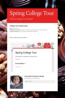 Spring College Tour