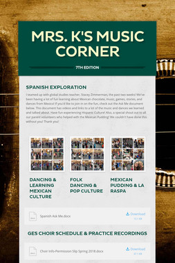 Mrs. K's Music Corner
