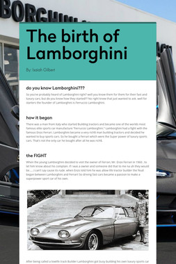 The birth of Lamborghini