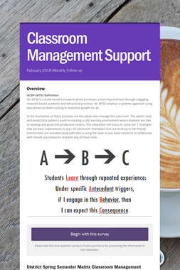 Classroom Management Support