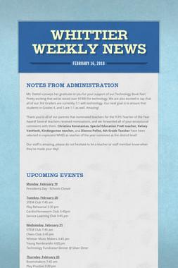 Whittier Weekly News