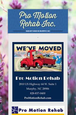 Pro Motion Rehab Inc.