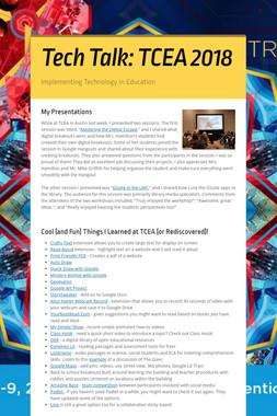 Tech Talk: TCEA 2018