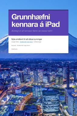 Grunnhæfni kennara á iPad