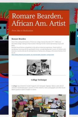 Romare Bearden, African Am. Artist