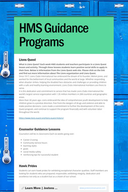HMS Guidance Programs