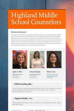 Highland Middle School Counselors