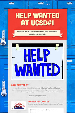 HELP WANTED AT UCSD#1