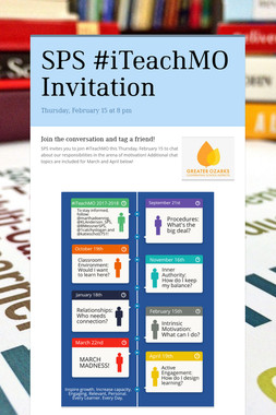 SPS #iTeachMO Invitation