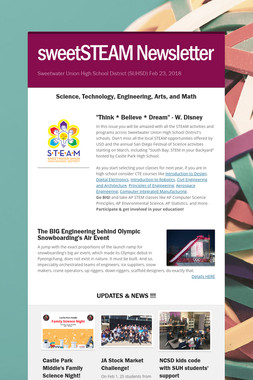 sweetSTEAM Newsletter