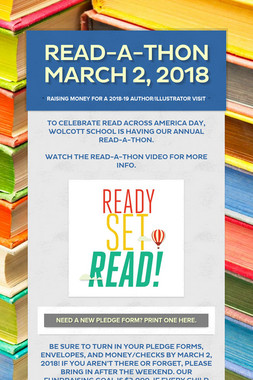 Read-a-Thon March 2, 2018