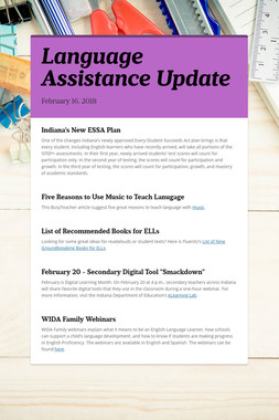 Language Assistance Update