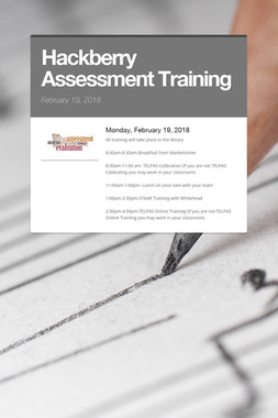 Hackberry Assessment Training