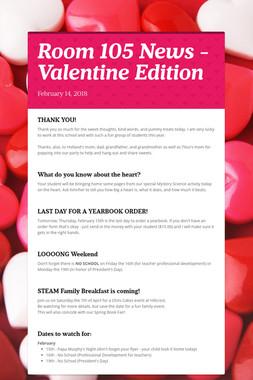 Room 105 News - Valentine Edition