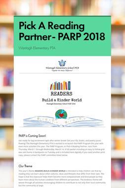 Pick A Reading Partner- PARP 2018