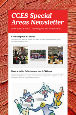 CCES Special Areas Newsletter