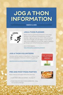 Jog A Thon Information