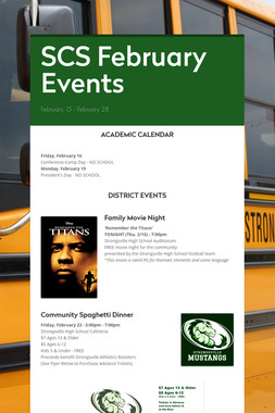 SCS February Events