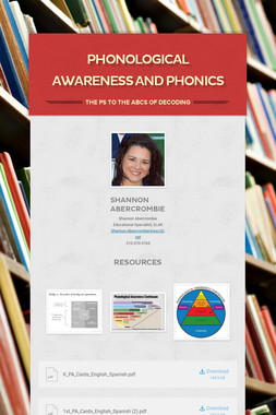 Phonological Awareness and Phonics