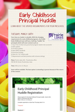 Early Childhood Principal Huddle