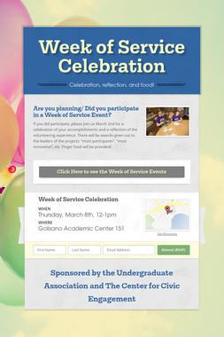 Week of Service Celebration