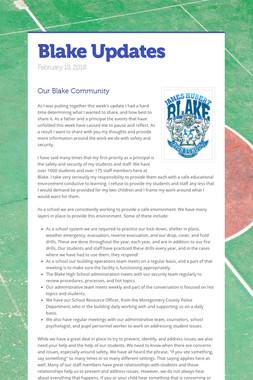 Blake Updates
