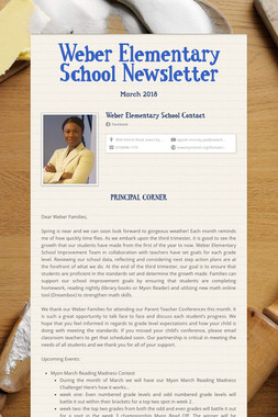 Weber Elementary School Newsletter