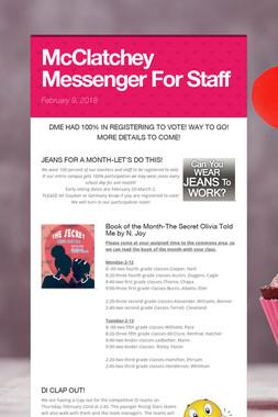 McClatchey Messenger For Staff