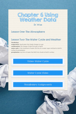 Chapter 6 Using Weather Data