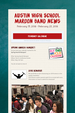 Austin High School Maroon Band News