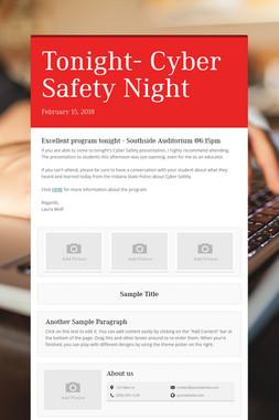 Tonight- Cyber Safety Night