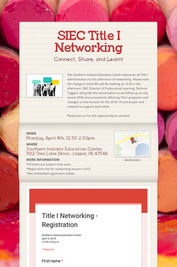 SIEC Title I Networking