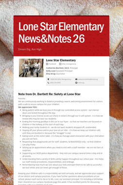 Lone Star Elementary News&Notes 26