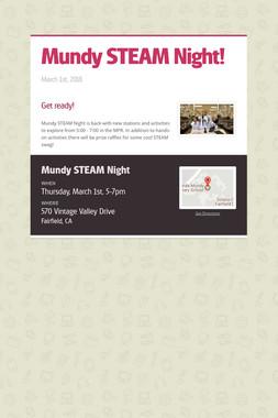 Mundy STEAM Night!